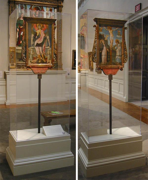 The Crucifixion and St. Michael / Lorenzo d'Alessandro da San Severino