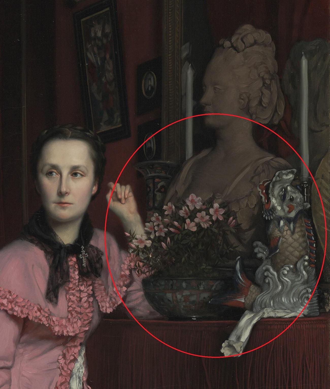 Portrait of the Marquise de Miramon, née Thérèse Feuillant (detail) / Tissot