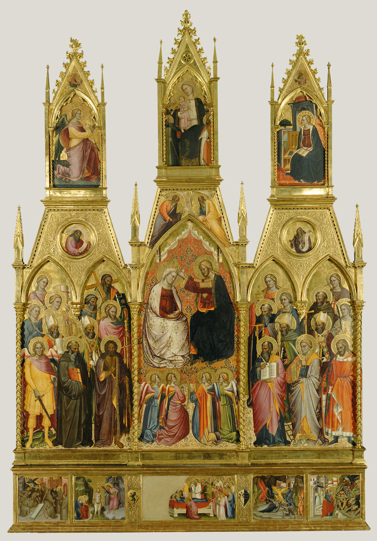 Polyptych with Coronation of the Virgin and Saints / Cenni