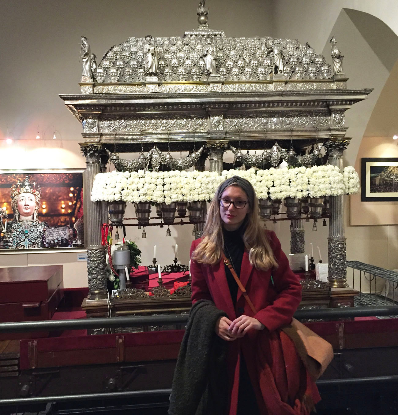 Me with St. Agatha's relics in their silver casket.
