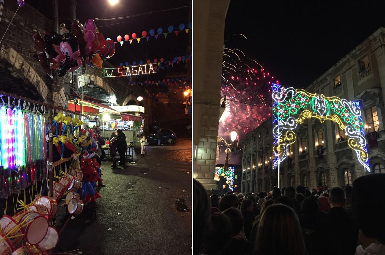 Street scenes, fireworks