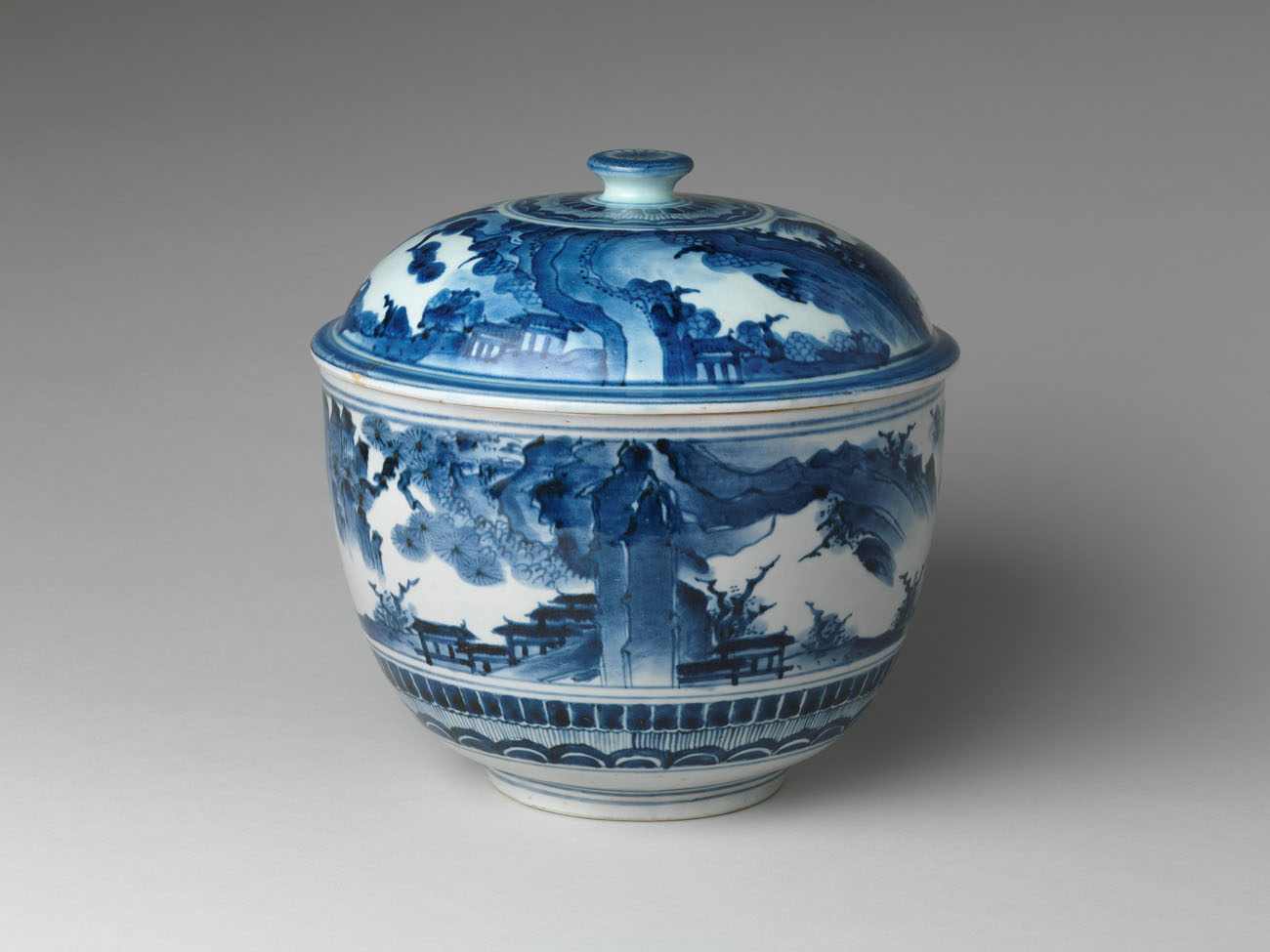 Tureen with Landscape / Japanese