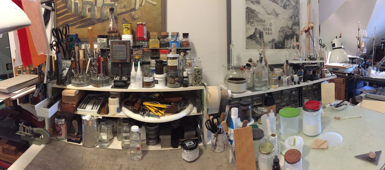 Timothy Ely's studio.