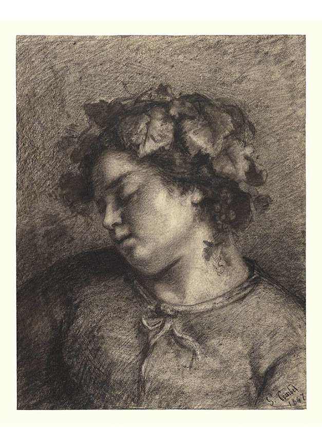 <em/>Head of a Sleeping Bacchante, 1847, Gustave Courbet