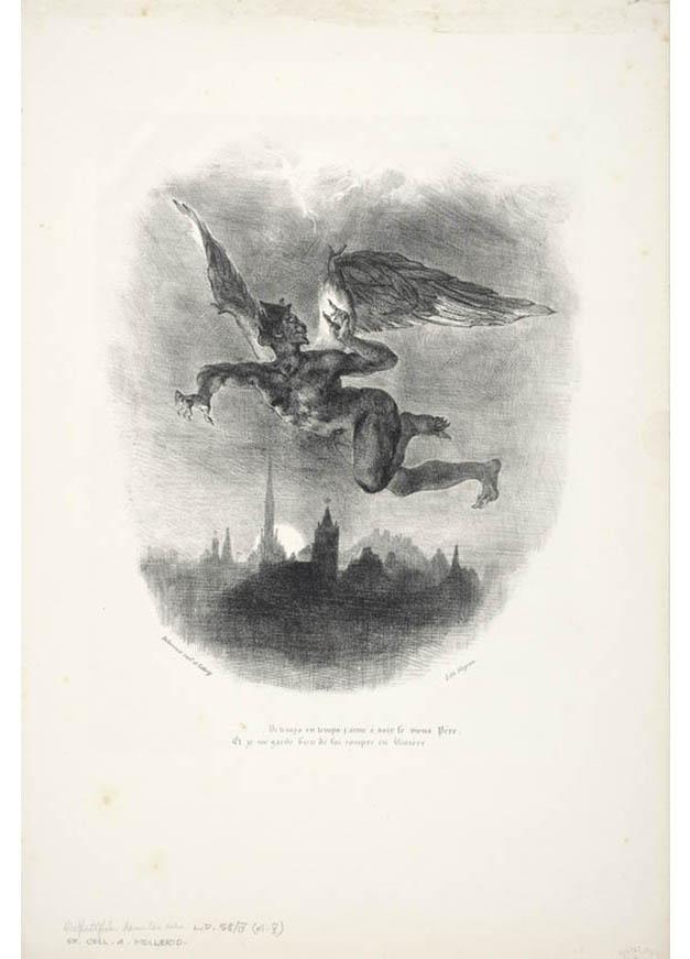 <em/>Mephistopheles Aloft, 1827, published 1828, Eugène Delacroix