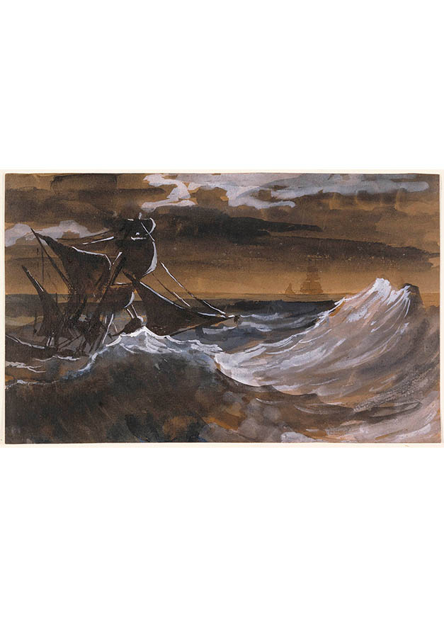 <em/>Sailboat on a Raging Sea, about 1818–1819, Théodore Géricault