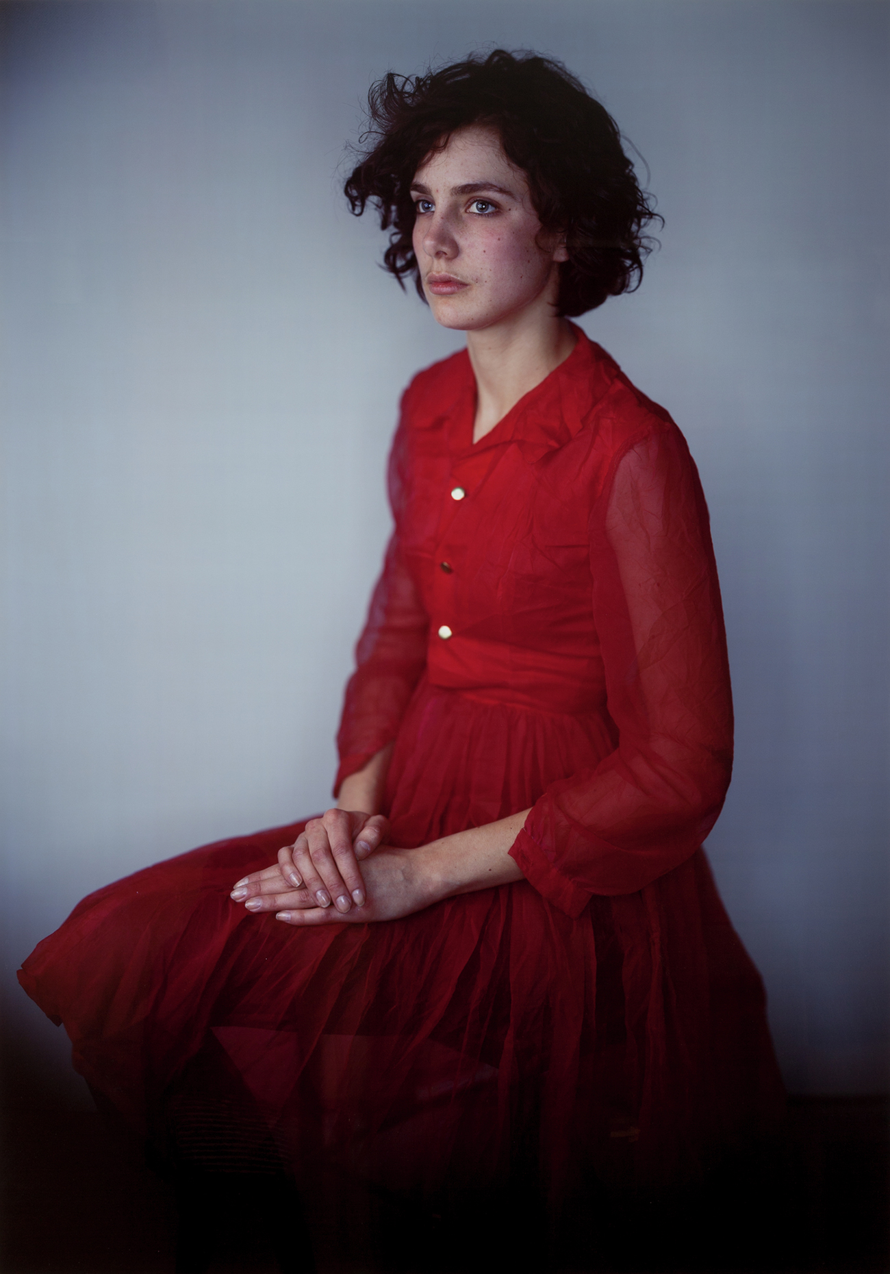 Agnes in Red Dress, 2008, Richard Learoyd, silver-dye bleach print. © Richard Learoyd, courtesy Fraenkel Gallery, San Francisco.
