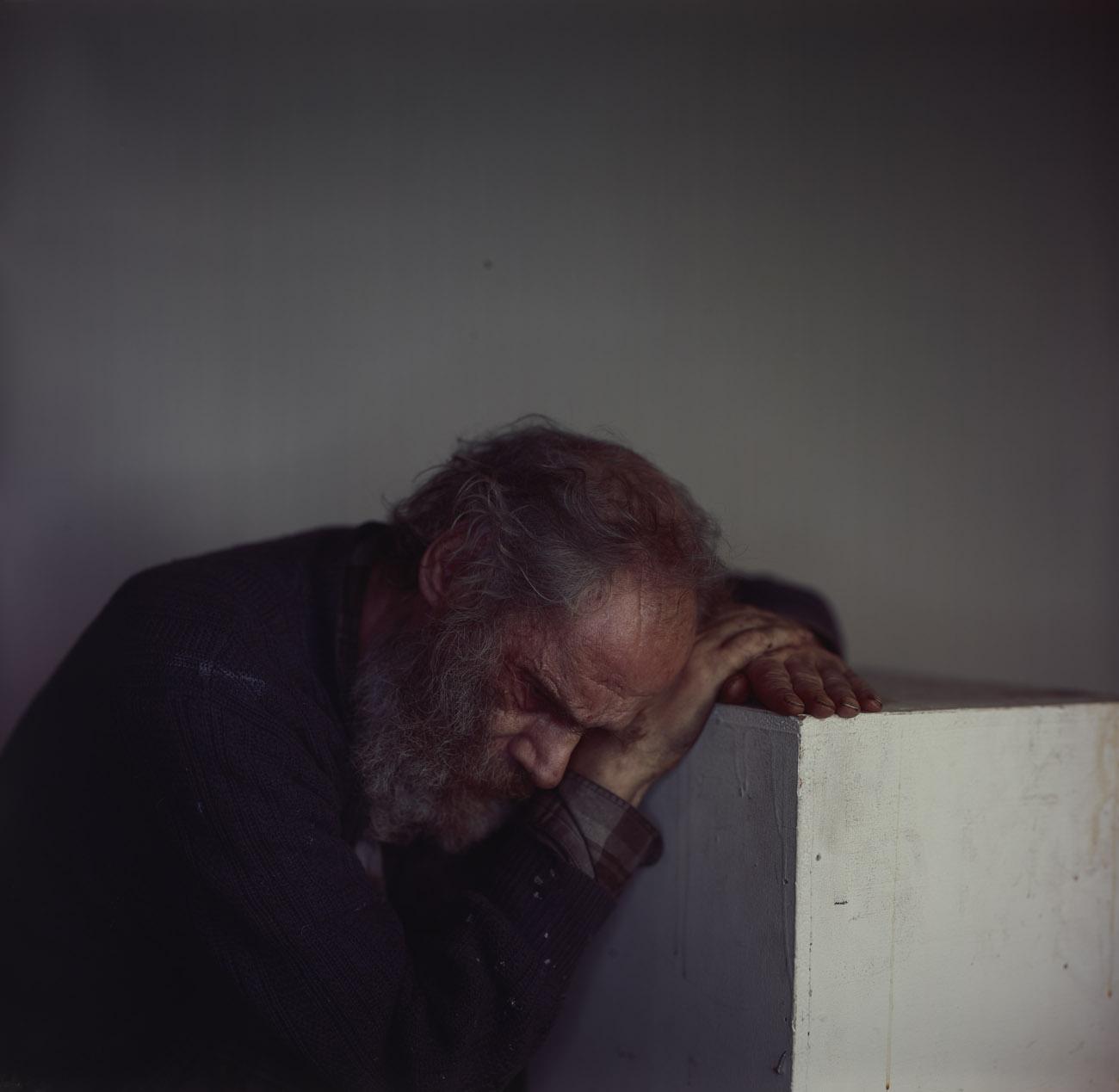 Andrew on Plinth / Richard Learoyd