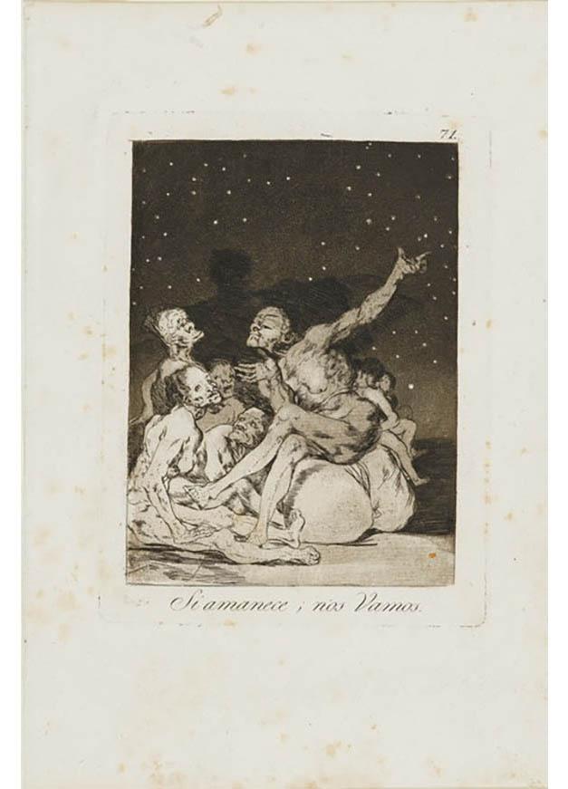 <em/>When Day Breaks We Will Be Off, 1799, Francisco José de Goya y Lucientes (Francisco de Goya)