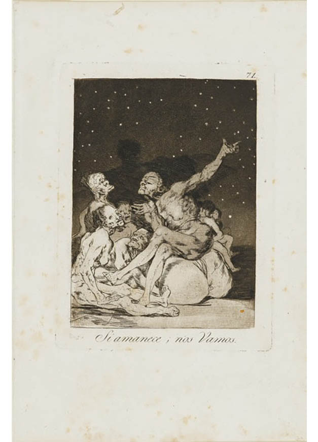 <em/>When Day Breaks We Will Be Off, 1799, Francisco José de Goya y Lucientes (Francisco de Goya)