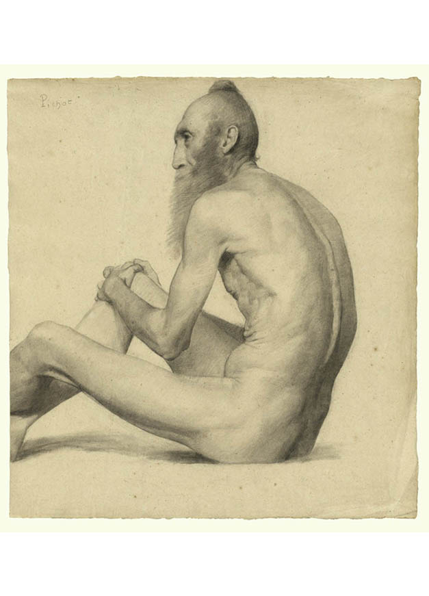 <em/>Nude Study of an Indian Man, about 1878–1879, Émile-Jules Pichot
