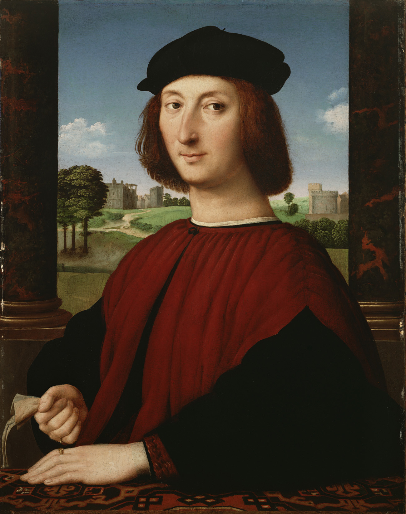 Portrait of a Young Man in Red / Circle of Raphael