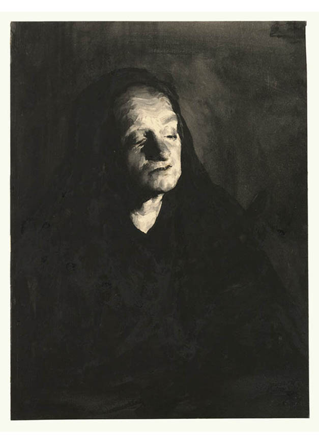 <em/>Woman in Black Veil, 1880s, Theodule-Augustin Ribot
