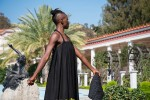 taisha paggett in the Getty Villa's Outer Peristyle Garden.