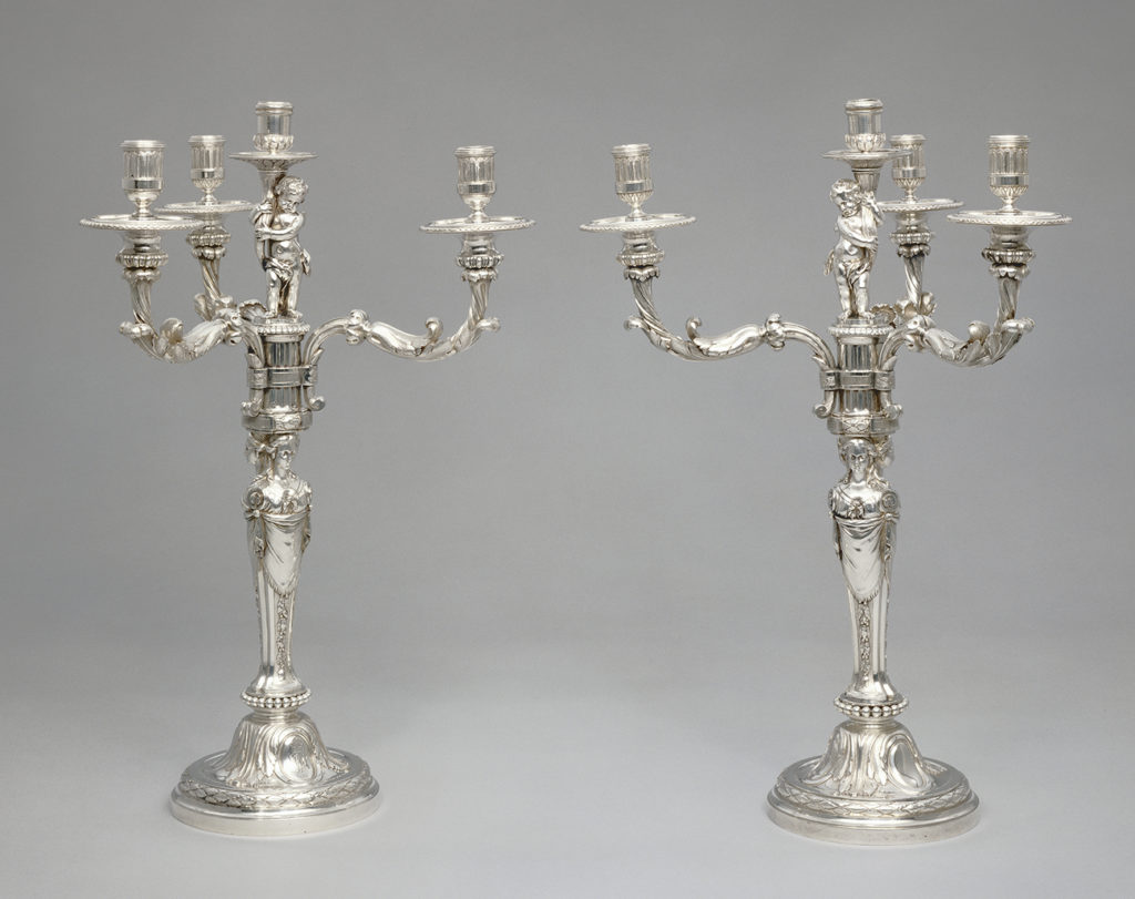 Pair of Candelabra, 1779 - 1782, Robert-Joseph Auguste. The J. Paul Getty Museum.
