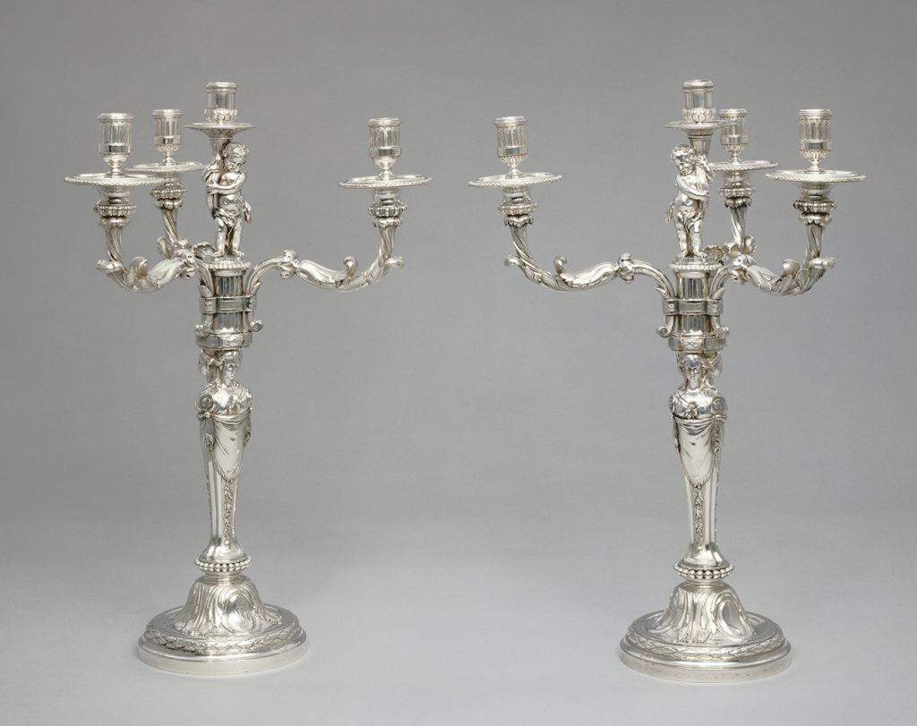 Pair of Candelabra, 1779 - 1782, Robert-Joseph Auguste. The J. Paul Getty Museum.