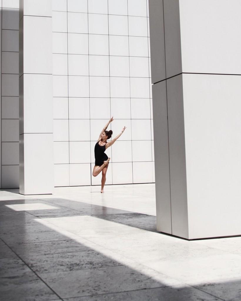 Renee Stewart dances at the Getty Center