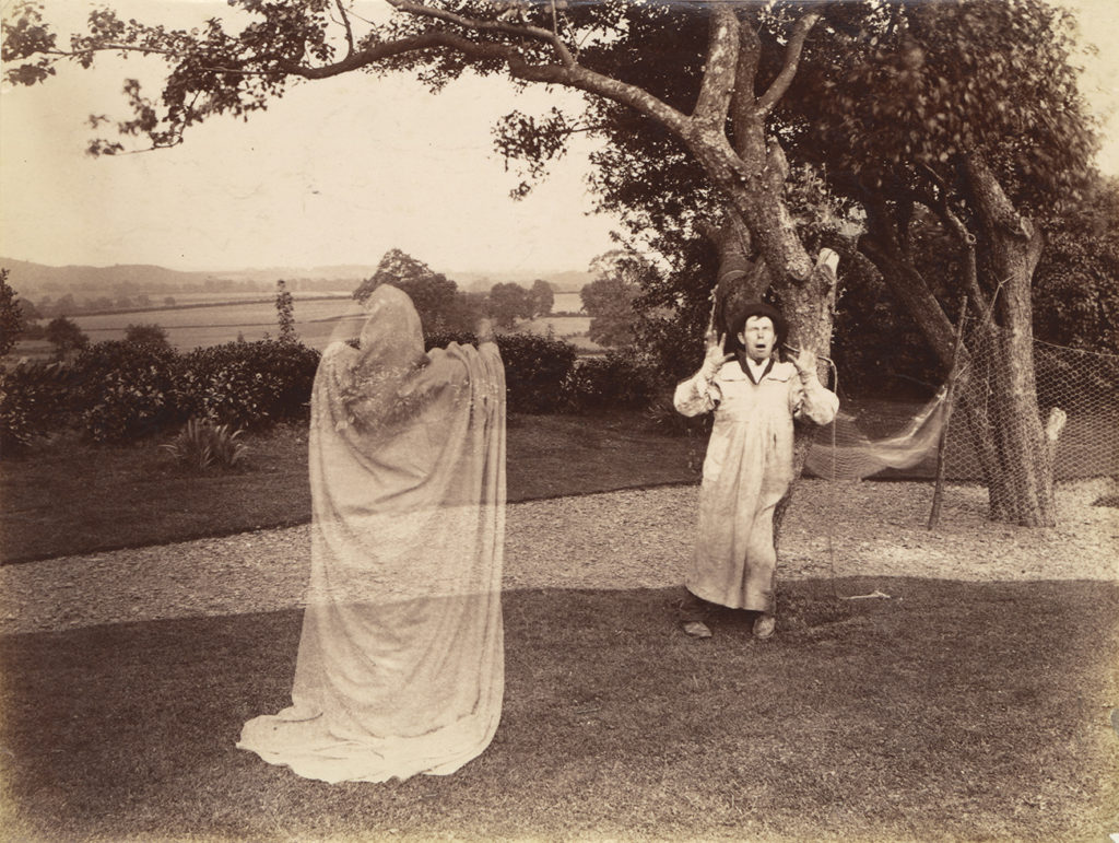 [Amateurs playing ghost scene], 1887, W.S. Hobson. The J. Paul Getty Museum
