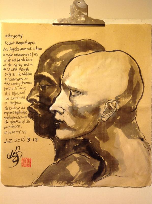 Watercolor by Liu Zheng