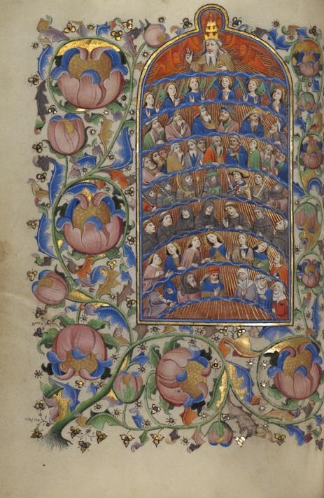 All Saints, Guillebert de Mets, Book of Hours, about 1450-55. The J. Paul Getty Museum, Ms. 2, fol. 20v