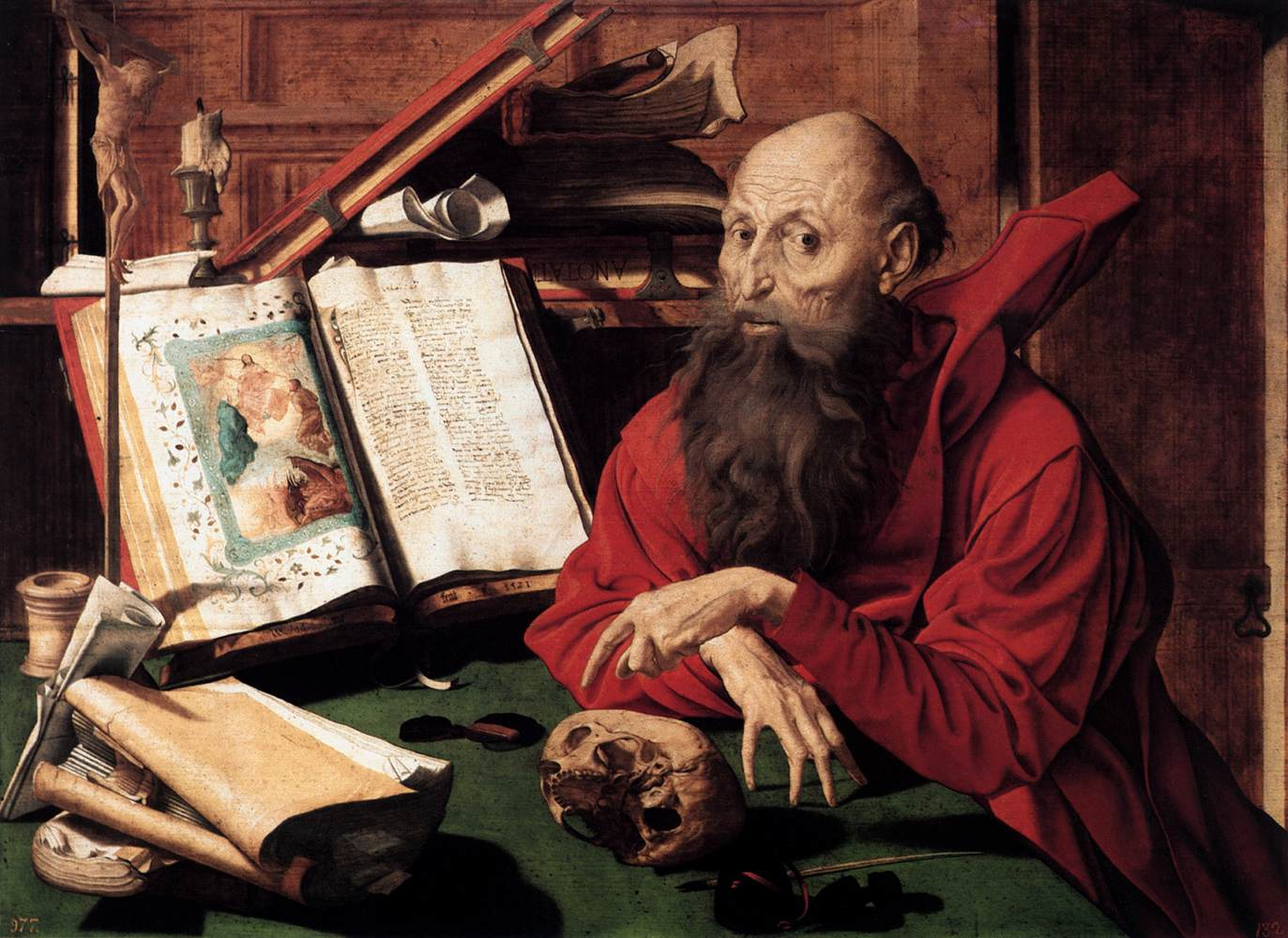 Saint Jerome in his Study / Marinus van Reymerswaele