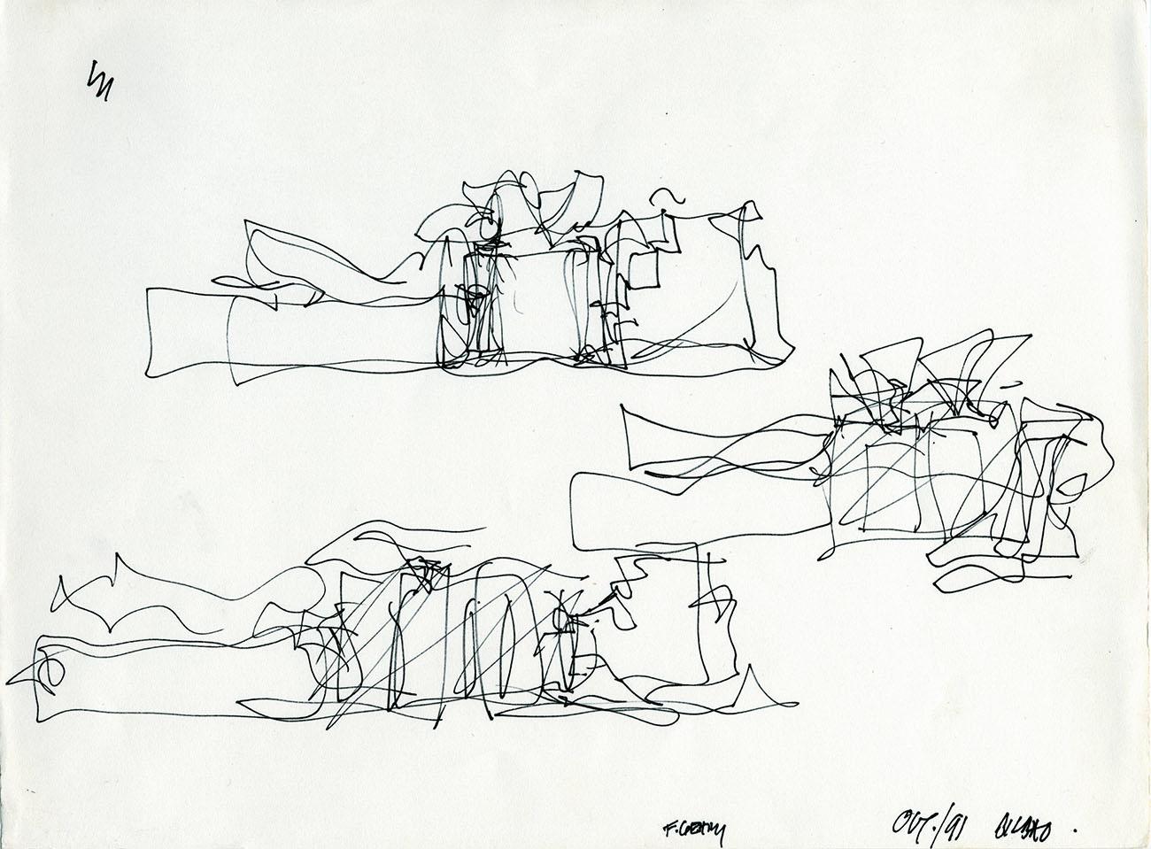 Guggenheim Bilbao Project Sketch / Frank Gehry