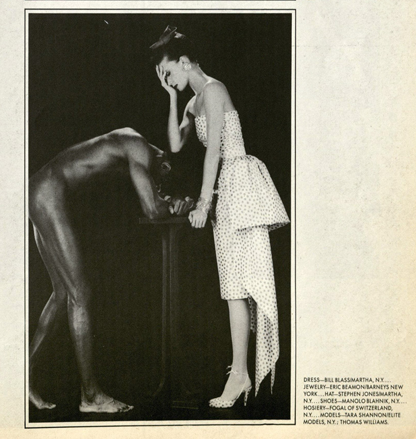 Tara Shannon and Thomas Williams, Robert Mapplethorpe, from Interview magazine, March 1987