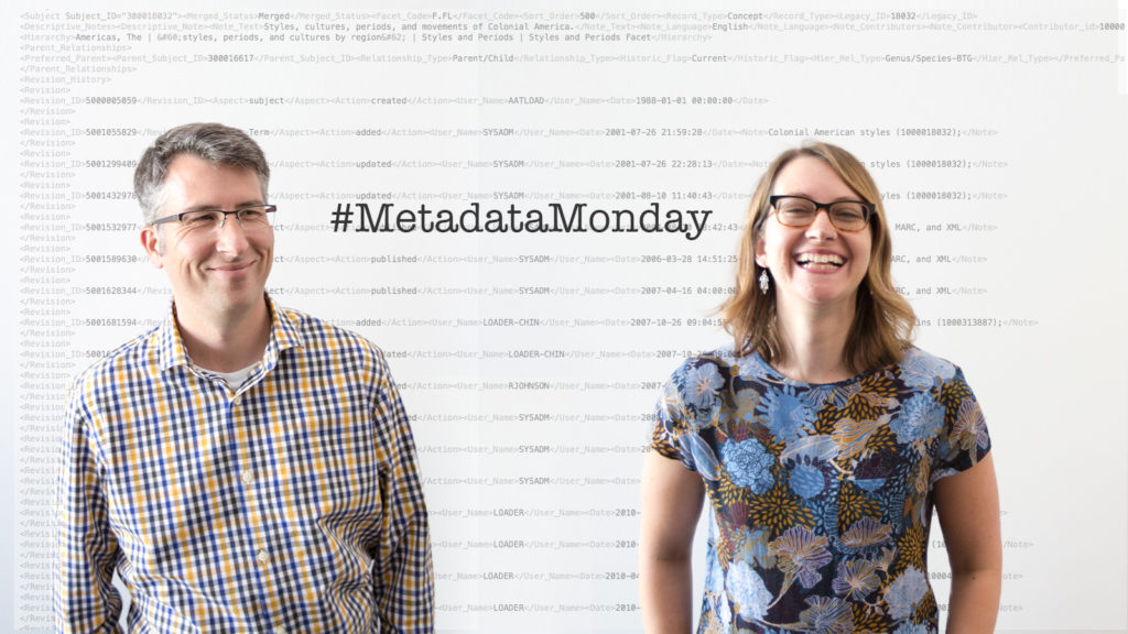 Metadata czars Jonathan Ward and Teresa Soleau of the Getty Research Institute.