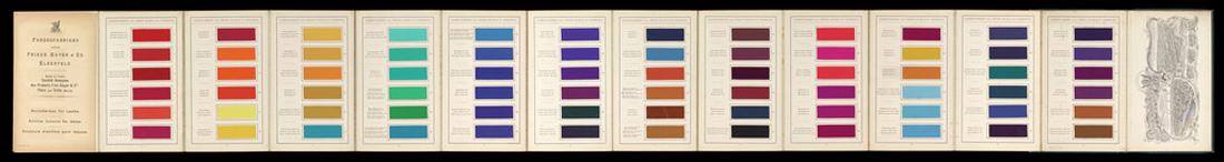 Aniline Lake Pigment samples