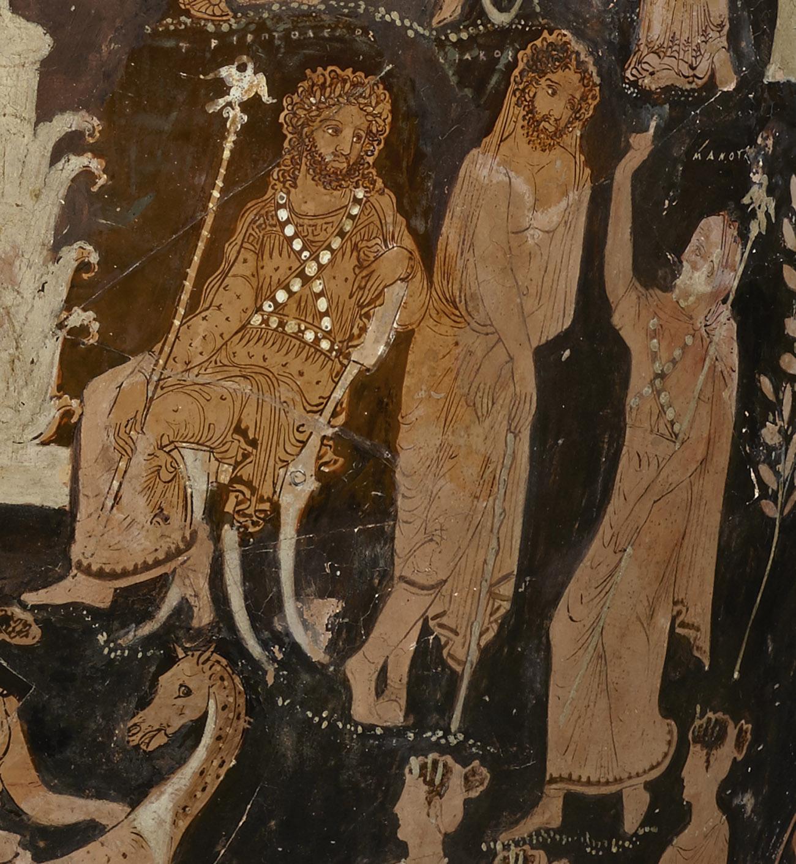Triptolemos, Aiakos, Rhadymanthos