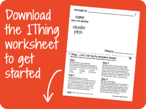 Download the 1Thing worksheet PDF