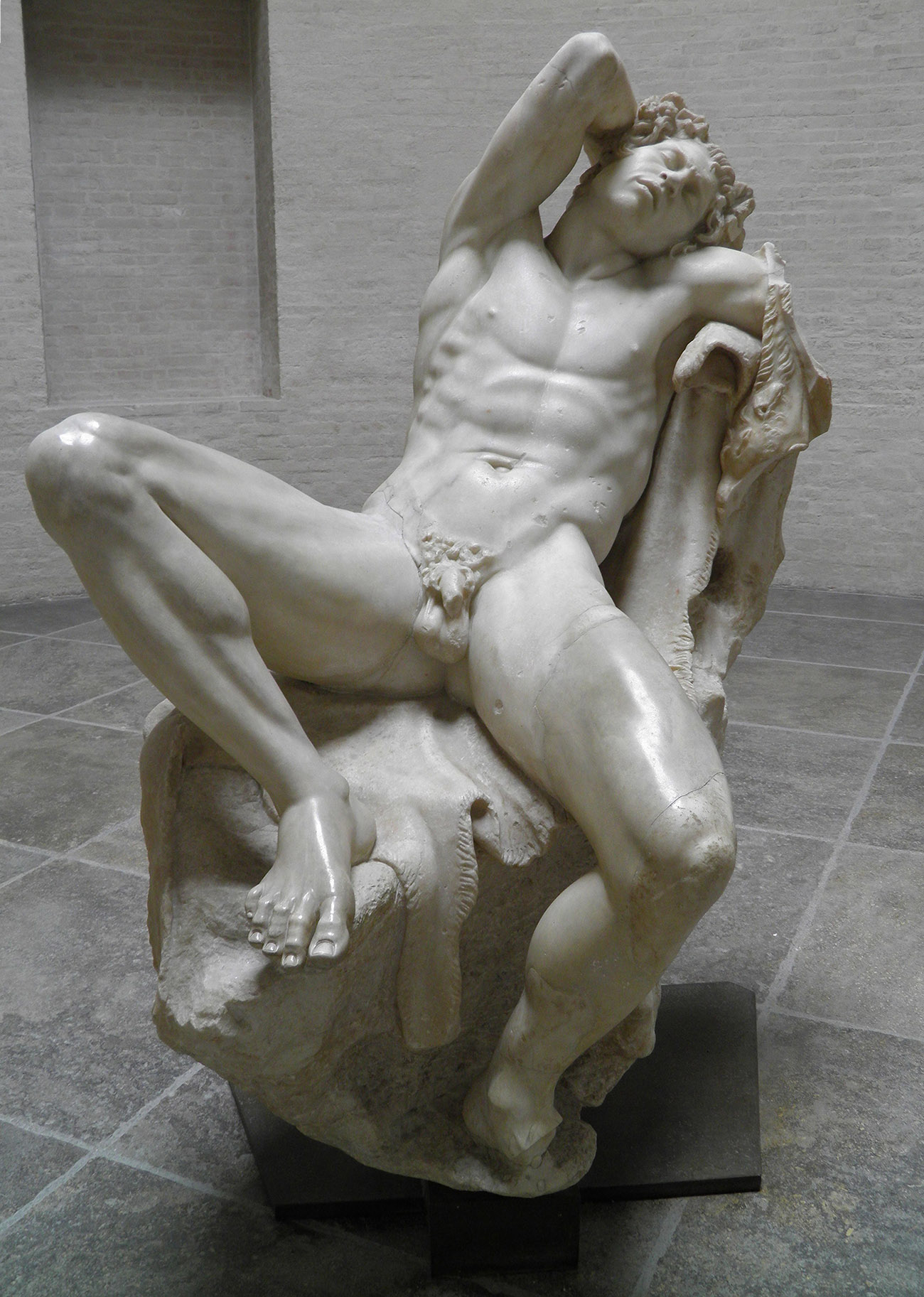 Barberini Faun, ca. 220 B.C., Greek or Roman. Staatliche Antikensammlungen und Glyptothek, Munich. Photo: Carole Raddato, licensed under a Creative Commons Attribution-ShareAlike 2.0 license. Source: Wikimedia Commons