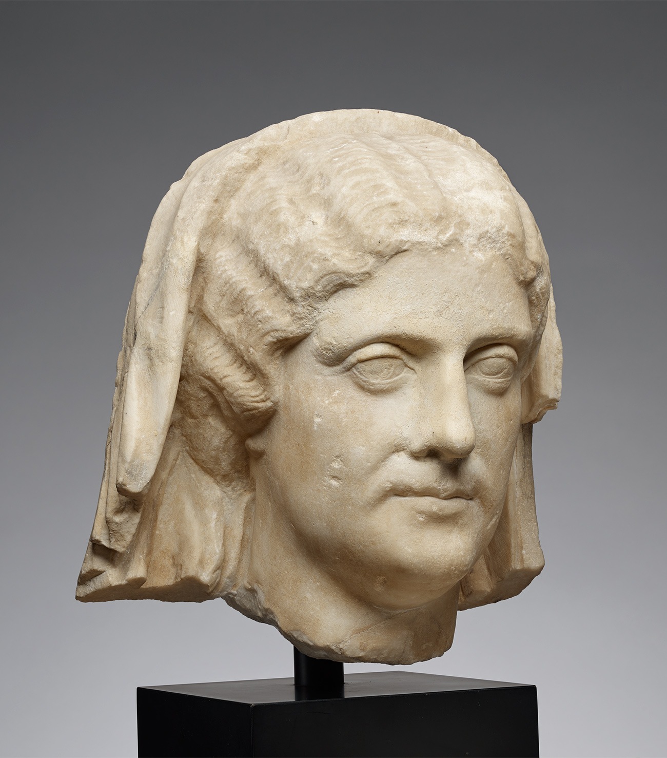 Head of a Veiled Woman / Roman