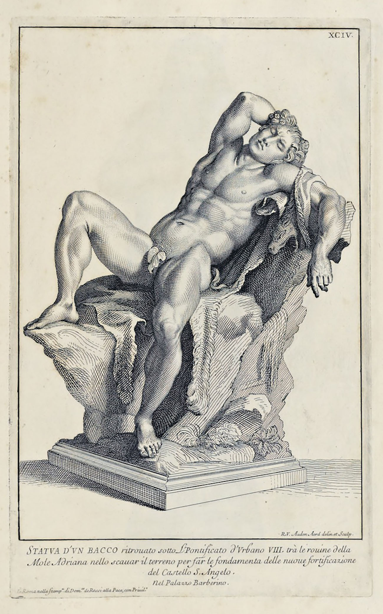 Barberini Faun. Engraving in Raccolta di statue antiche e moderne… (Rome: Gaetano Zenobj, 1704). The Getty Research Institute, 93-B5694, pl. 94