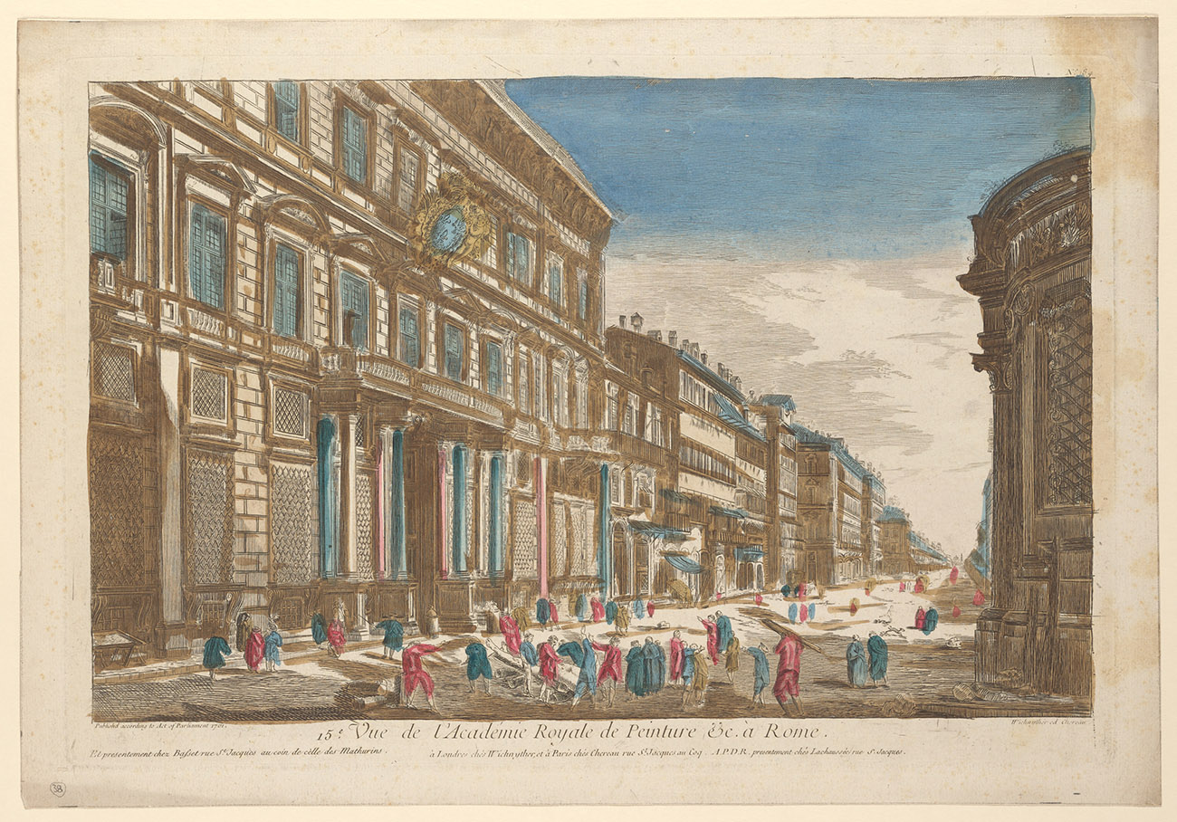Vue de l'Académie Royale de Peinture &c. à Rome, 1761. The Getty Research Institute, Los Angeles. Digital image courtesy of the Getty's Open Content Program.