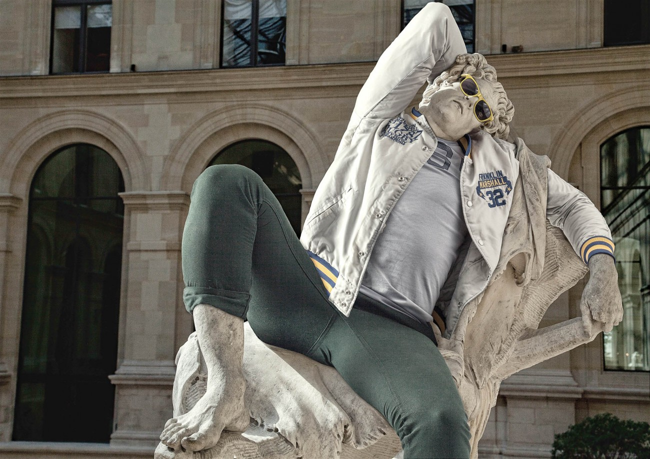 Barberini Faun from the series Hipsters in Stone, 2012–16, Léo Caillard. Photographic print. Courtesy of and © Leo Caillard, used with permission
