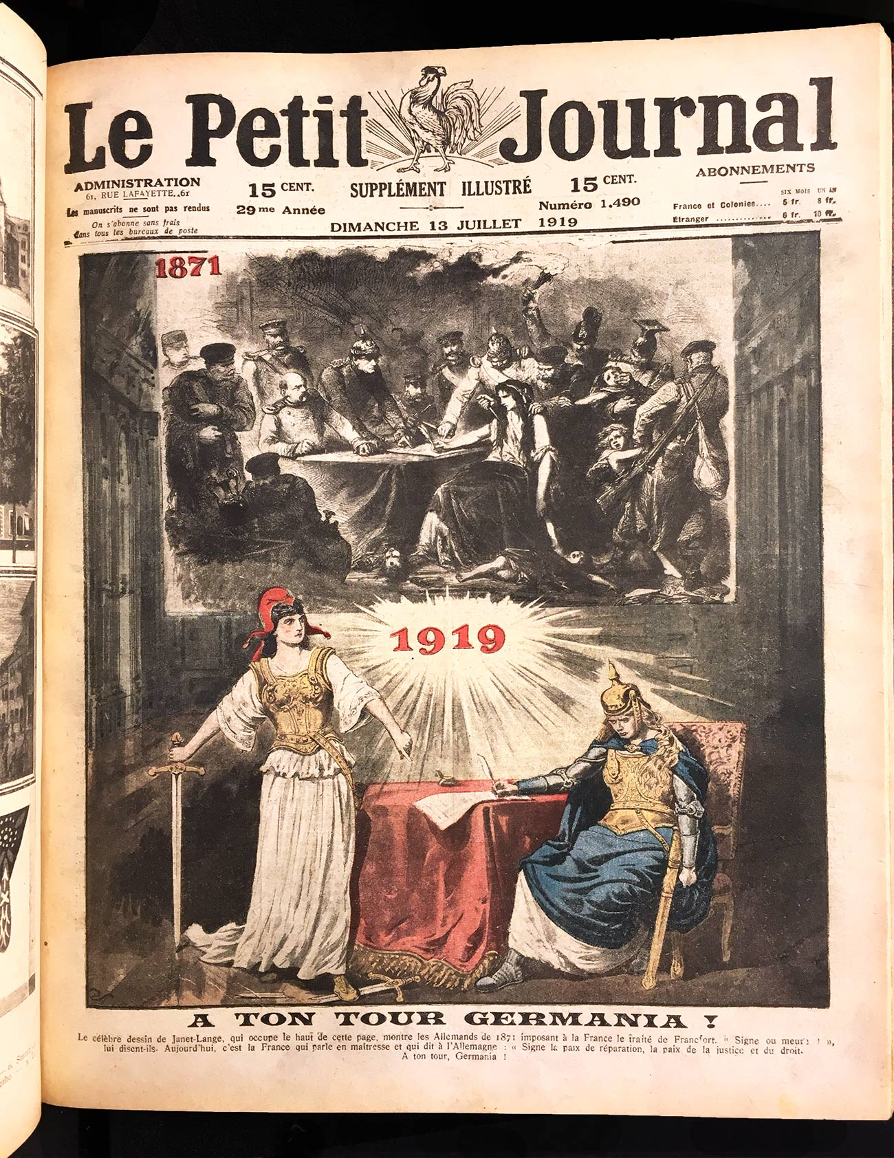 """A ton tour Germania,"" Le Petit Journal"
