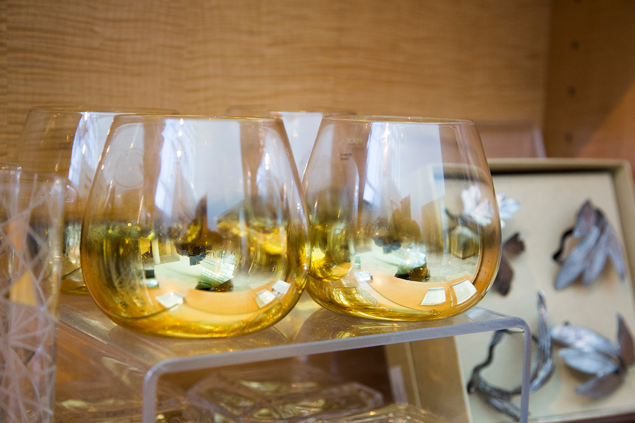 Gold dipped cocktail glasses