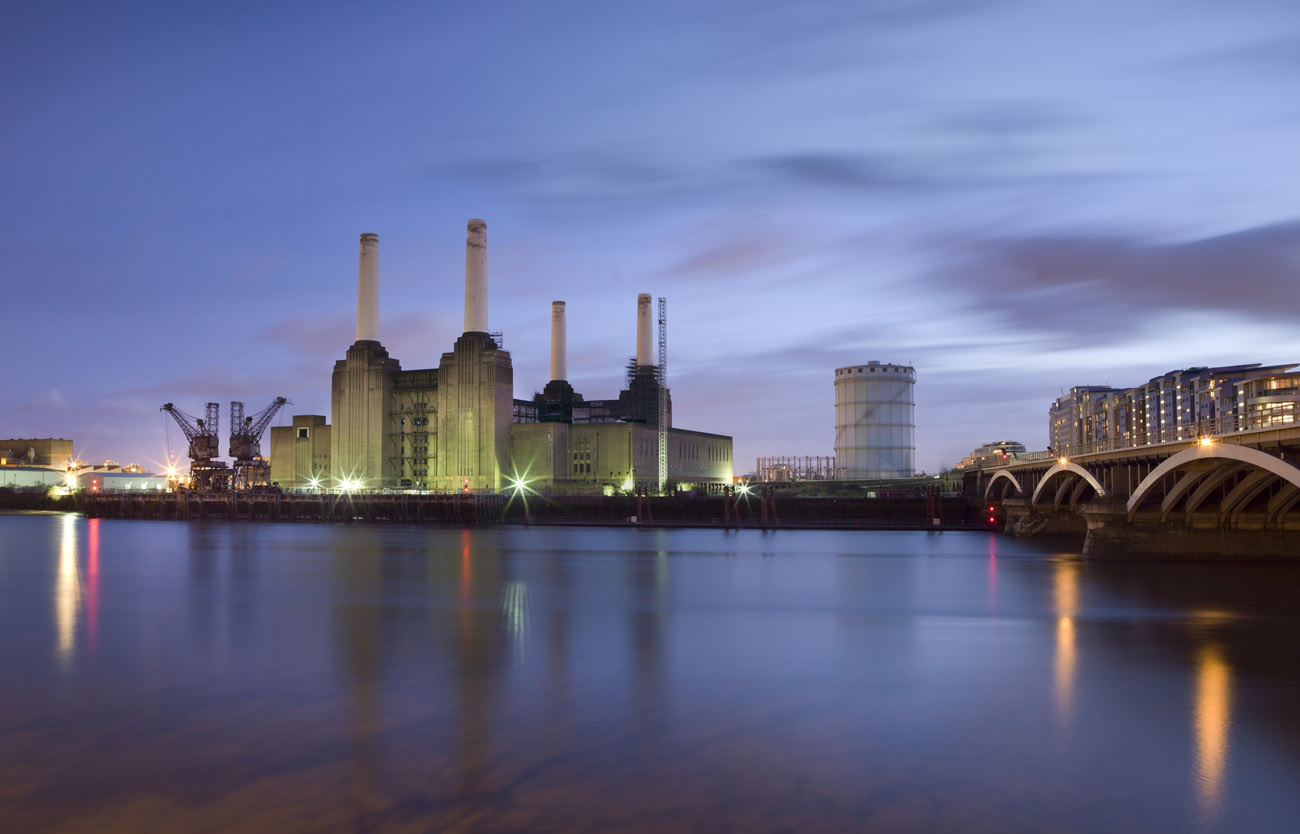 Battersea Power Station, general view from the northwest, across the River Thames. Photo © Historic England
