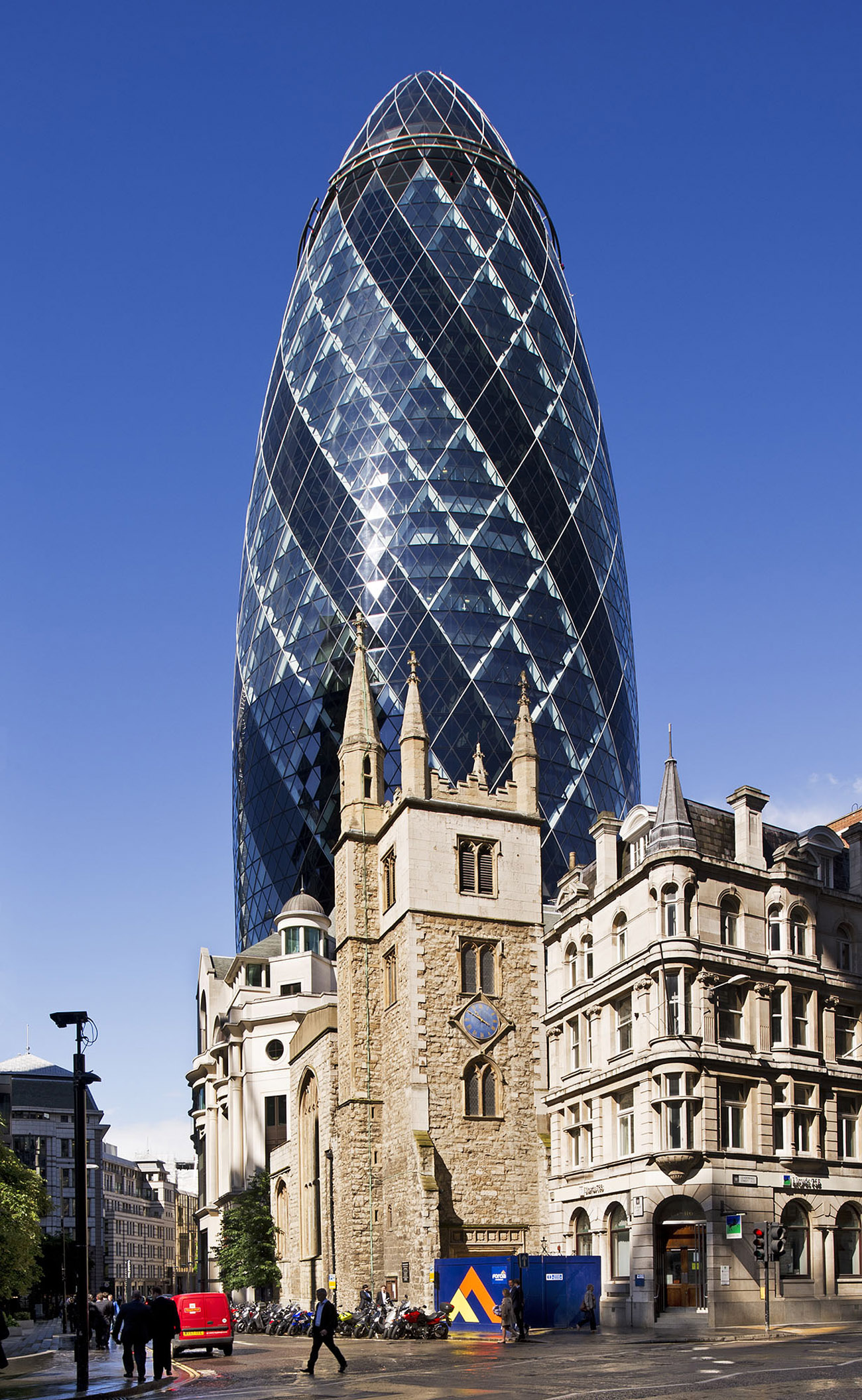 Church of St Andrew Undershaft, St. Mary Axe, City of London, July 11, 2012. Photo © Historic England