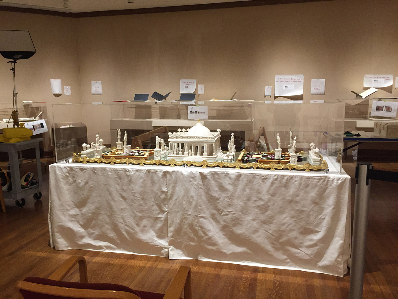 Installing a sugar sculpture as part of The Edible Monument at the Detroit Institute of Art.