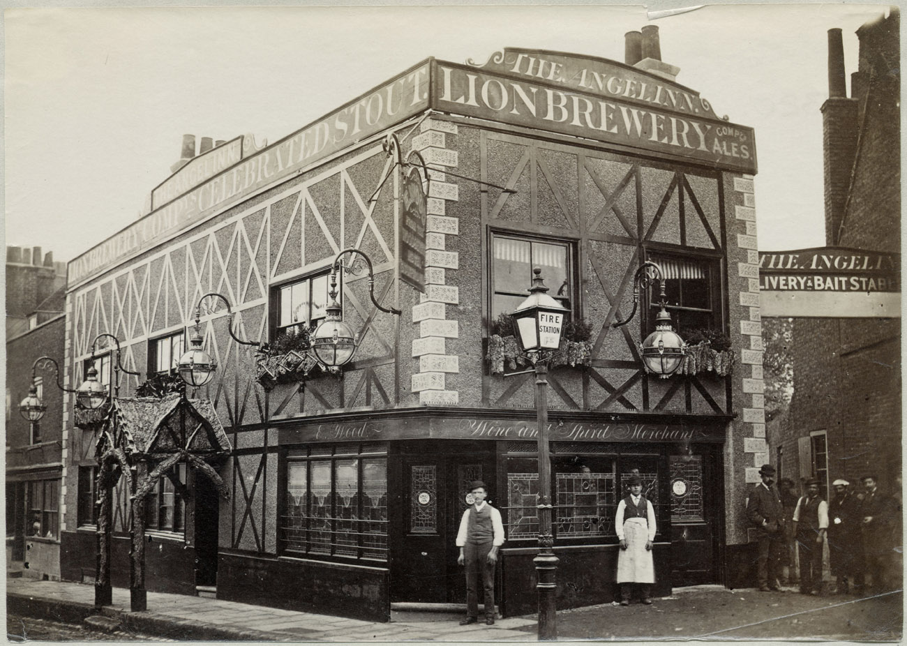 The Angel Inn, Highgate, London, 1882. Photo © Historic England
