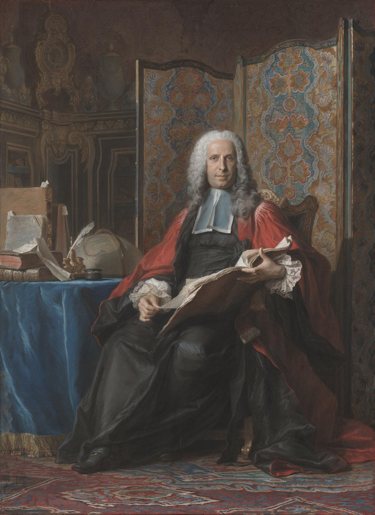 Portrait of Gabriel Bernard de Rieux / Maurice-Quentin de La Tour