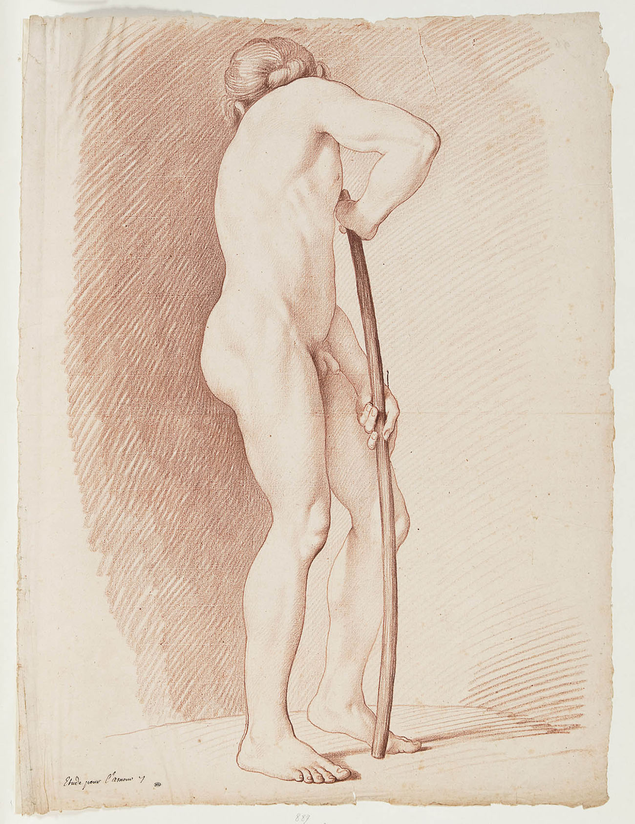 Study for Cupid, about 1745, Edme Bouchardon, Red chalk. Musée du Louvre, Département des Arts graphique, Paris. Image © 2015 Musée du Louvre / Laurent Chastel.