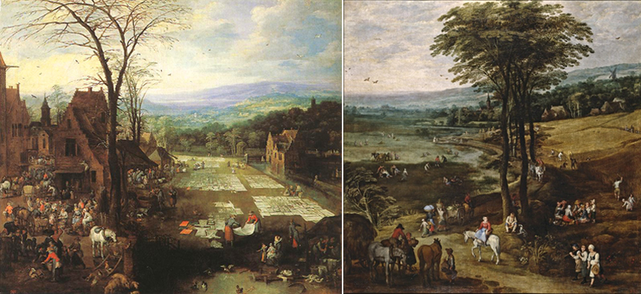 Paintings by Brueghel and Monper