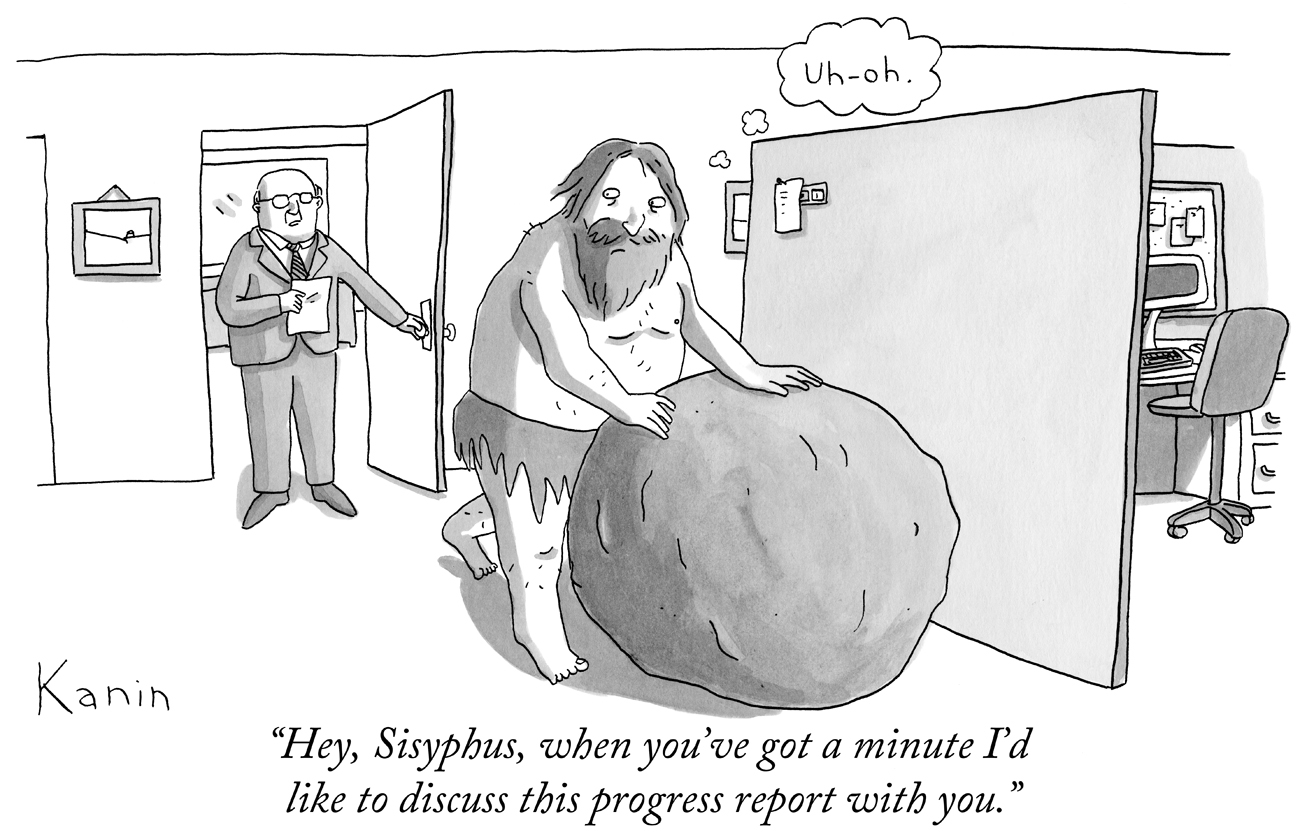 Sisyphus cartoon / Kanin
