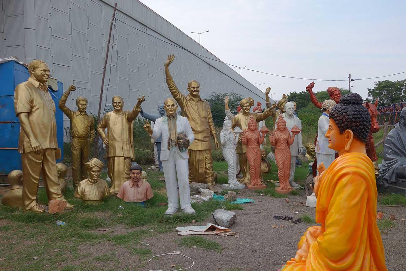 Statue workshop India Khilnani