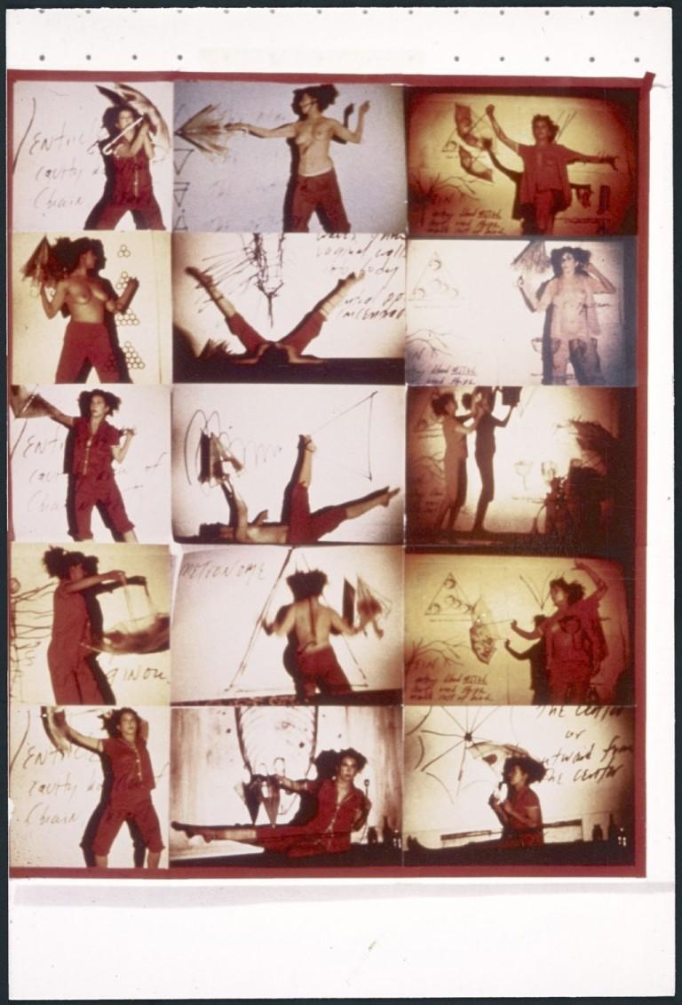 Fresh Blood—A Dream Morphology, 1983, Carolee Schneemann. Contact sheet. © Carolee Schneemann