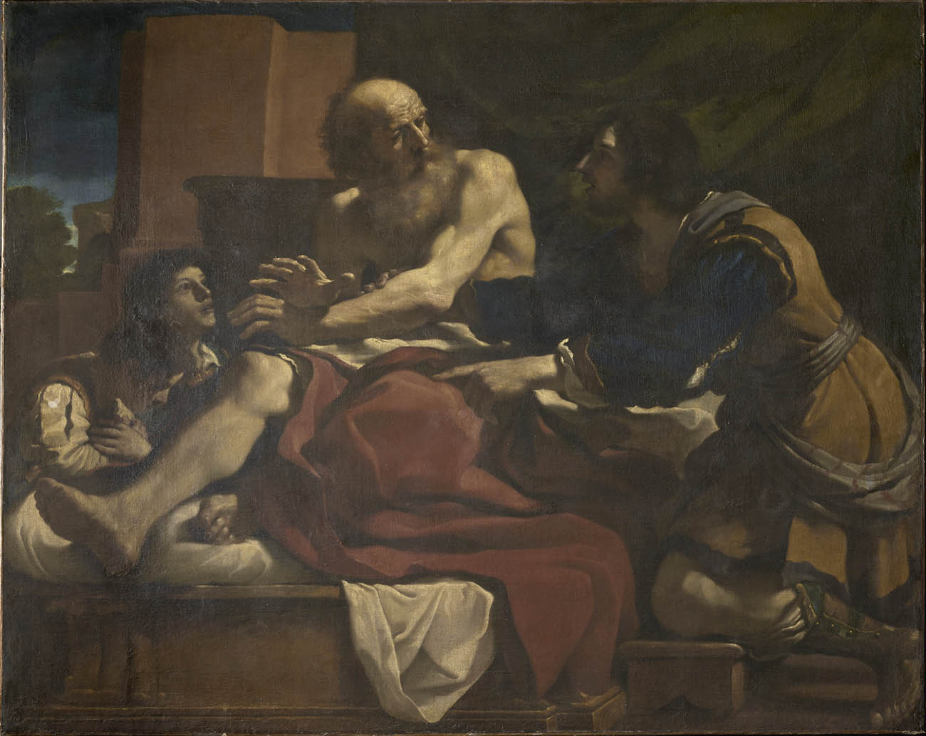 Figure Jacob Blessing the Sons of Joseph / Guercino