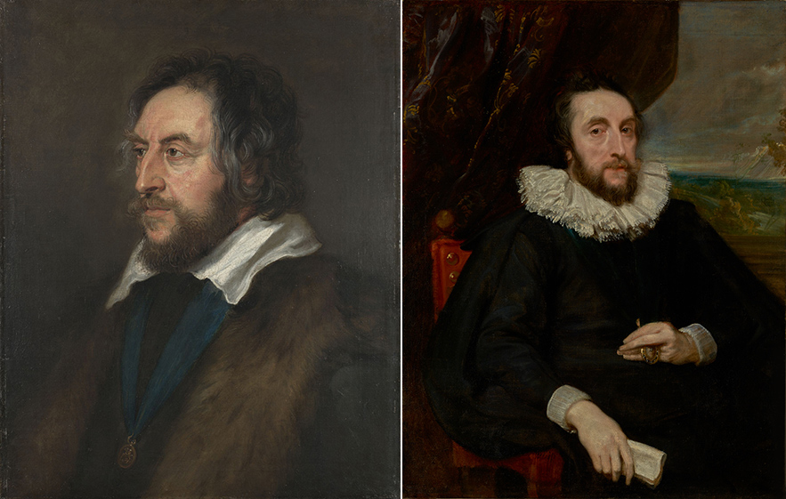 Two portraits of a 17th-century English gentleman